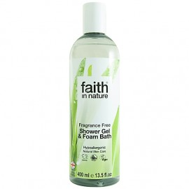 Faith in Nature Fragrance Free Shower Gel & Foam Bath 400ml